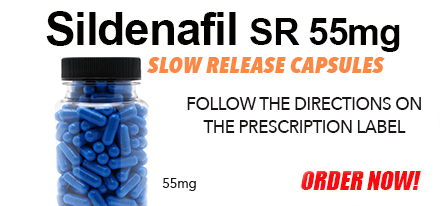 Compounded by a licensed pharmacy, Sildenafil 55mg Slow Release Capsules help treat Erectile Dysfunction.